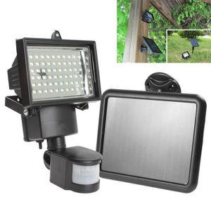 Capteur de lumière 60 LED PIR Lumière Solaire Projecteur Capteur Déte