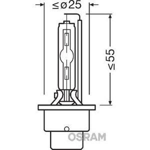 Ampoule phare - feu OSRAM Ampoule xénon XENARC ULTRA LIFE D2S