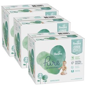 COUCHE 378 Couches Pampers Pure Protection taille 2