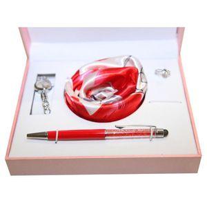 PARURE Coffret cadeaux femme montre,bague strass,stylo,fo