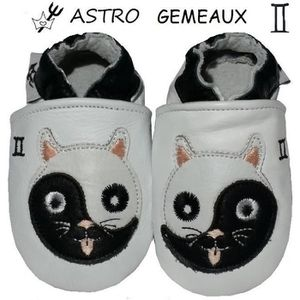 CHAUSSON - PANTOUFLE CHAUSSONS CUIR ASTRO BEBE 6-12 MOIS