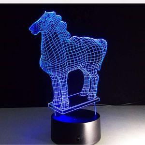 Lampe de chevet lampe cheval Lampe De Table Tête Nuit Lampe de table chevaux personnage