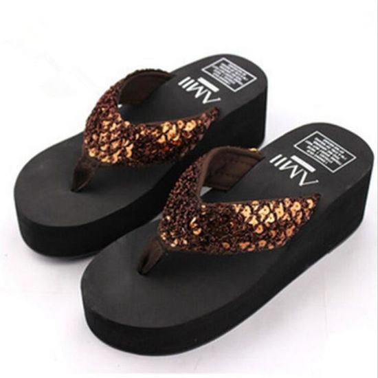 Pantoufle Haut Ete D'été Marque Talon Sandales Tongs Femme Chaussures Sandals Sandale 2017 Femmes De OZiuPkTwX