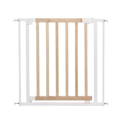 BADABULLE Barrière de sécurité enfant Easy close - Bois et métal - Blanc
