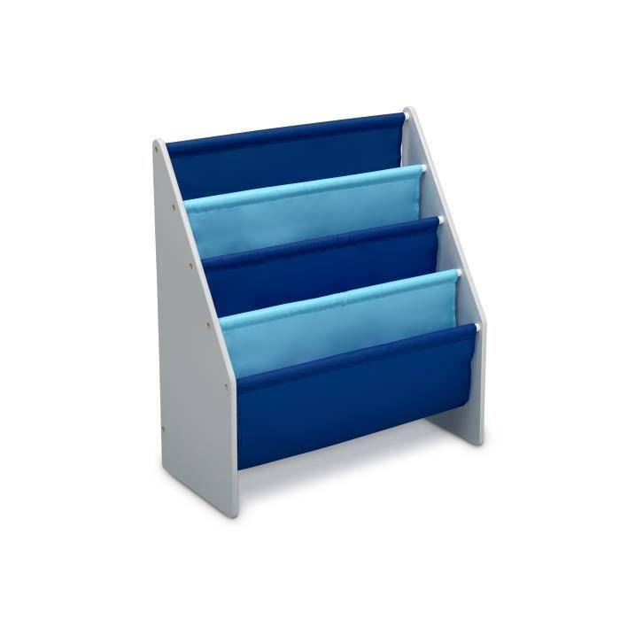 DELTA KIDS - Rangement enfant bibliothèque gris bleu