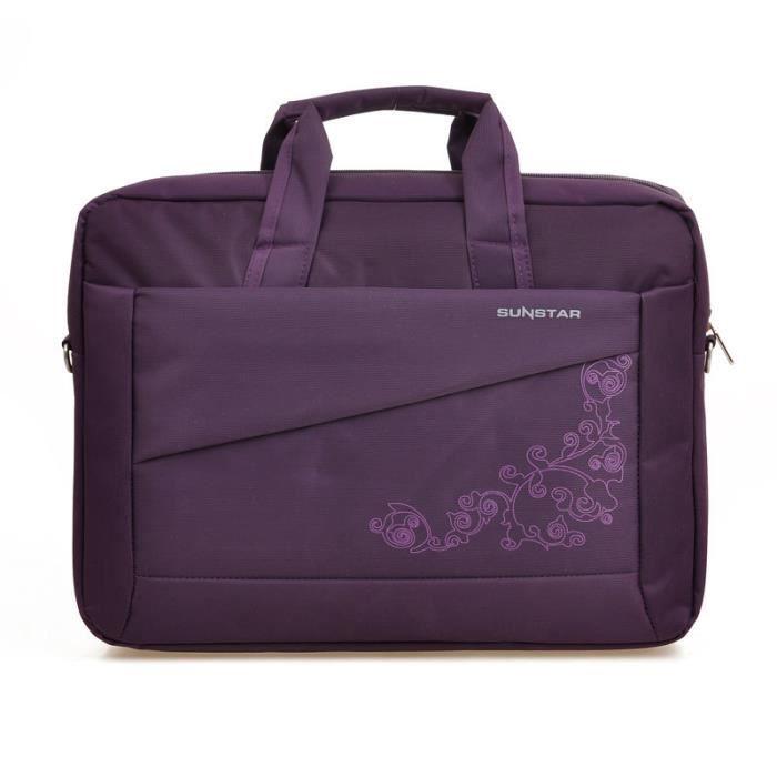 Caravan® Macbook Bandoulière 13 Et À Pour 12 Pochette Housse Portable Sacoche Ordinateur Noir Mode 6