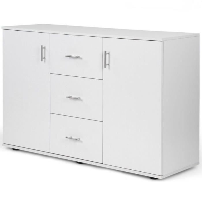 Commode placard meuble de rangement blanc 1401075 - Achat / Vente commode de chambre Commode ...
