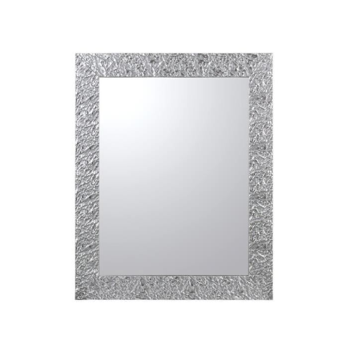 miroir cadre plis argent achat vente miroir cdiscount