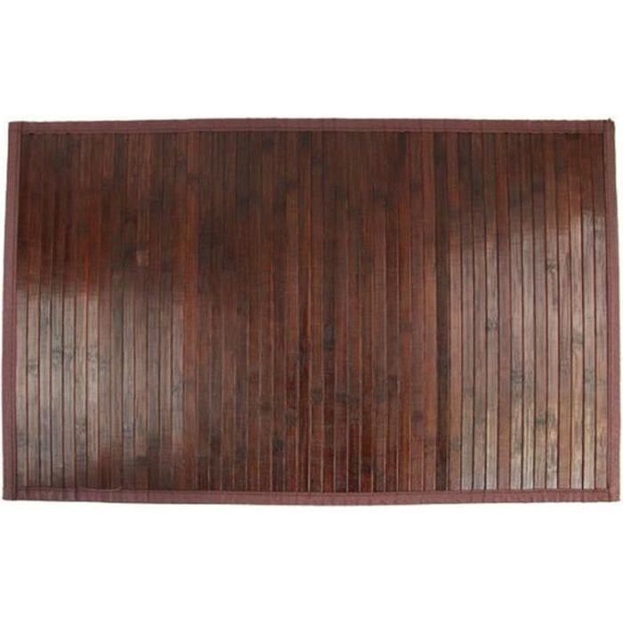 TAPIS BAMBOU LATTE 120X170 CHOCOLAT - Achat / Vente tapis - Soldes ...