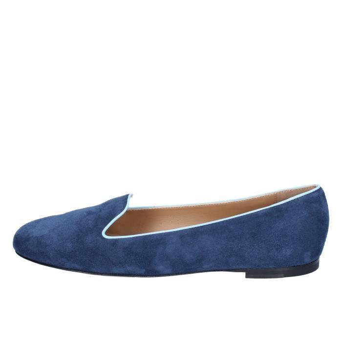 couleurs et frappant courir chaussures la moitié Mocassin femme daim