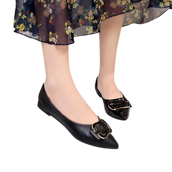 Solide Femmes Bout Chaussures Plat 8062 Pointu Mocassins Casual Bouton En Simples Mtal Conforpo IwvCqxq6f