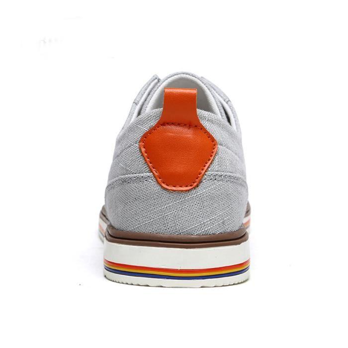 Chaussures En Toile Hommes Basses Quatre Saisons Populaire TYS-XZ133Blanc40