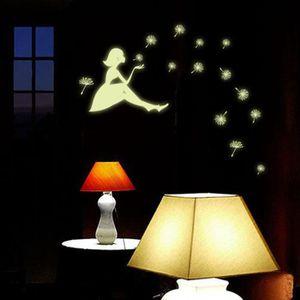 OBJET DÉCORATION MURALE love@ Pissenlit Fille lumineuse Cartoon enfants am
