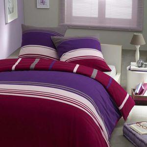 HOUSSE DE COUETTE Parure housse de couette 100% coton - Violettine 2