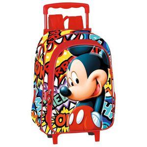 CARTABLE Sac à dos à roulettes maternelle Mickey OK 37 CM t