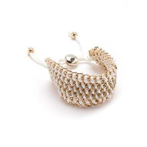 BRACELET - GOURMETTE Bracelet maillons métal et strass fantaisie