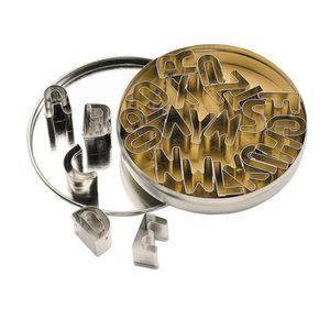 EMPORTE-PIÈCE  Set d'emportes pièces en métal Alphabet