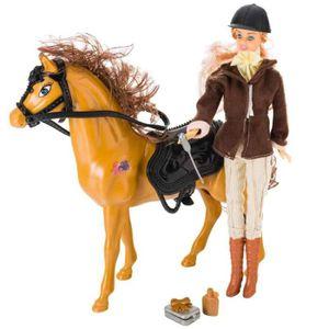 Poupee avec cheval achat vente jeux et jouets pas chers - Jeux de barbie avec son cheval ...