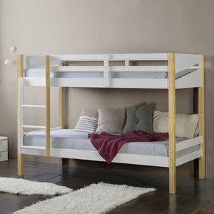 lit en bois blanc achat vente lit en bois blanc pas. Black Bedroom Furniture Sets. Home Design Ideas