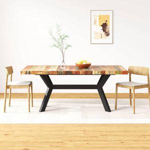 TABLE À MANGER SEULE vidaXL Table de salle à manger Bois massif recyclé