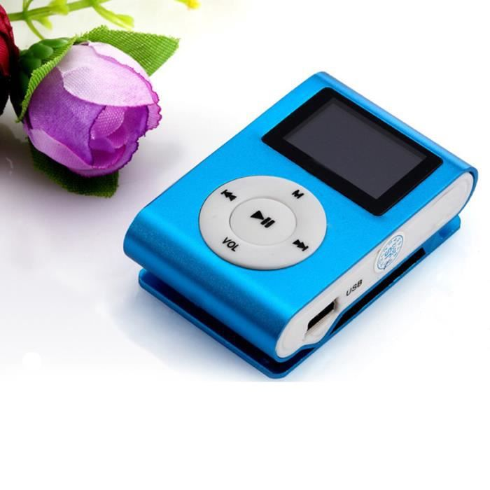 LECTEUR MP3 USB Clip Lecteur MP3 Support Ecran LCD 32 Go Micro