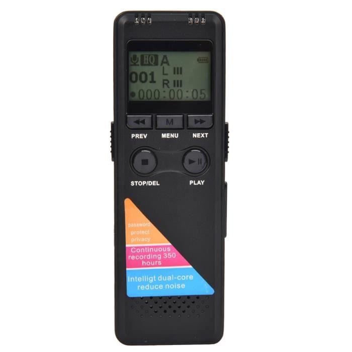 Enregistreur Vocal Numérique Professionnel Vm33 Prenant En Charge L'enregistrement Mp3 8g