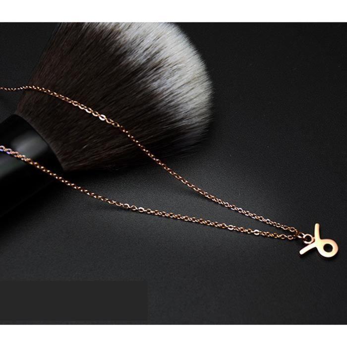 Collier femme constellation colliers Taureau acier au titane bijoux