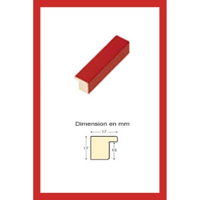 cadre en bois rouge 70 x 100 cm achat vente cadre photo cdiscount