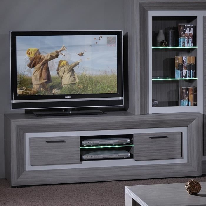 lynea meuble tv 170 cm gris achat vente meuble tv lynea meuble tv 170 cm gris panneaux de. Black Bedroom Furniture Sets. Home Design Ideas