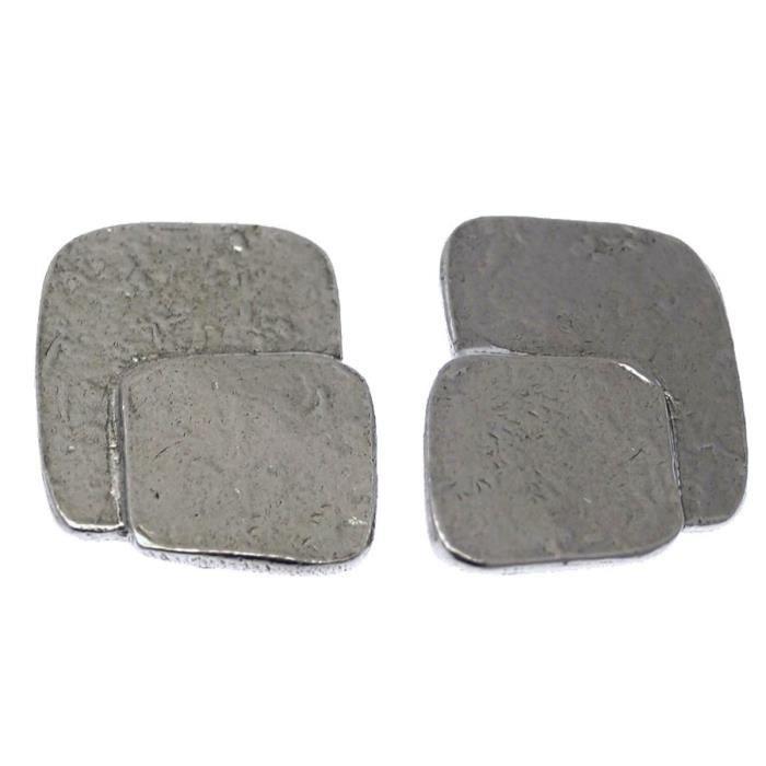Clip doreille en métal argenté collection TWIST