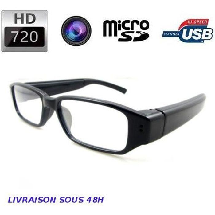 Lunettes caméra espion invisible HD 720p - Achat   Vente caméra ... 433a4dfe3d04