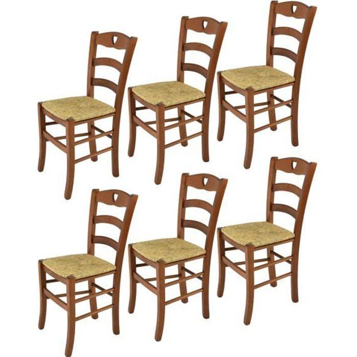 Set À Cuisine Bois Coleur La Assise Paille Structure Tommychairs Cuore Salle Chaises Pour 6 BarEt MangerSolide En Noix kOPXZiu