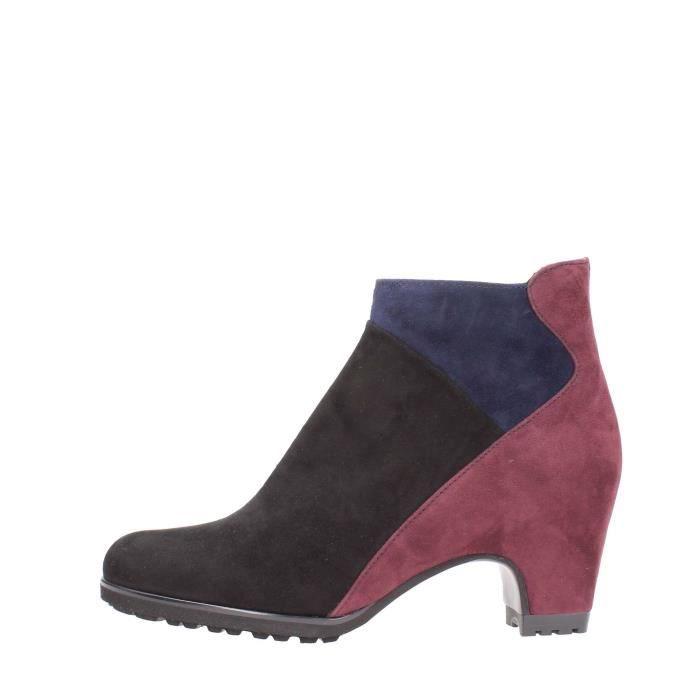 Pas De Rouge Ankle Boots Femme Black