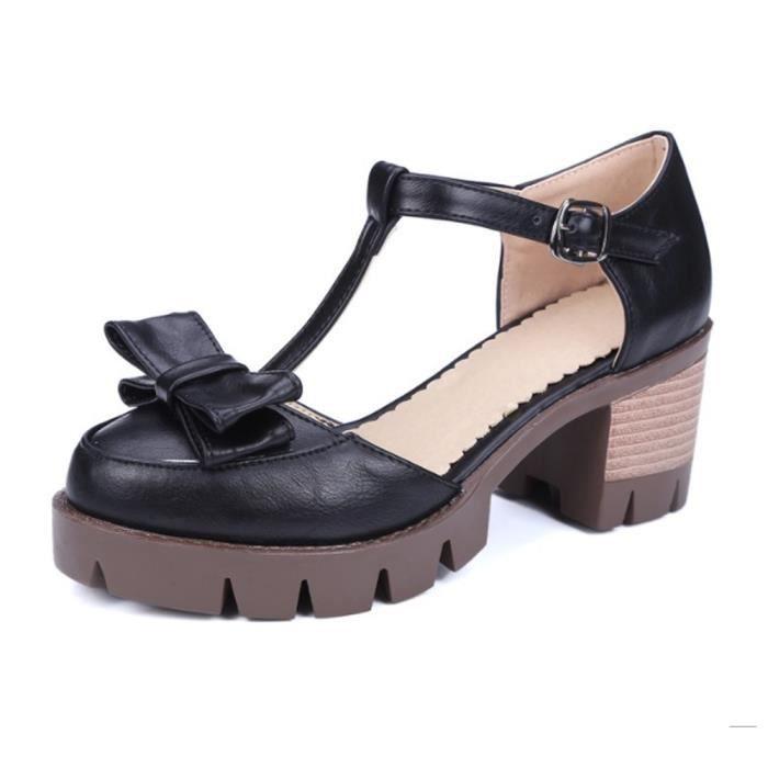 sandales femmes casuel bouts rond talon bloc déc