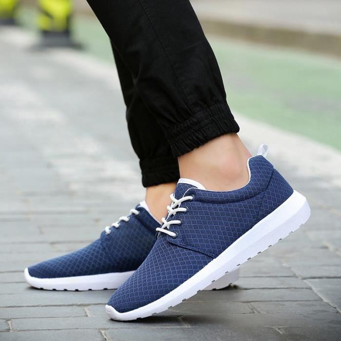 Basket Chaussures pour pour course amortissement de hommes respirant occasionnels chaussures de chaussures hommes sport maille RrRg1