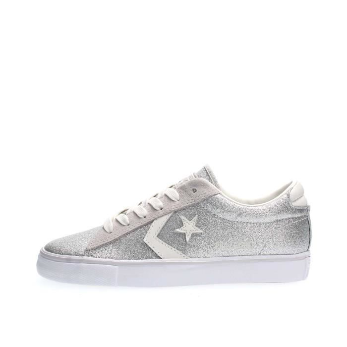 new arrival 8f46c 28863 BASKET CONVERSE SNEAKERS Femme SILVER, 40