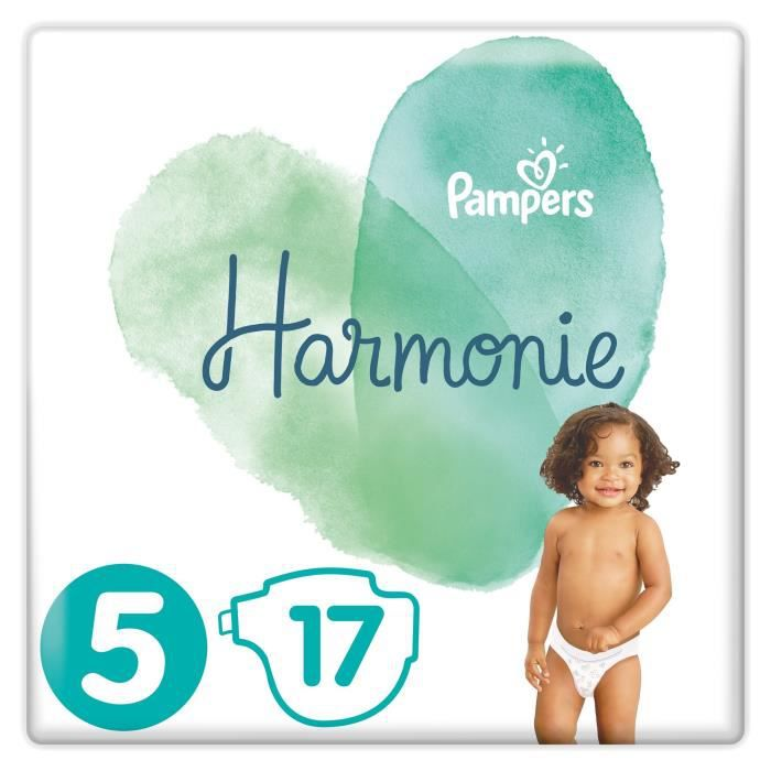 COUCHE PAMPERS Harmonie Taille 5, 11 kg+, 17 Couches