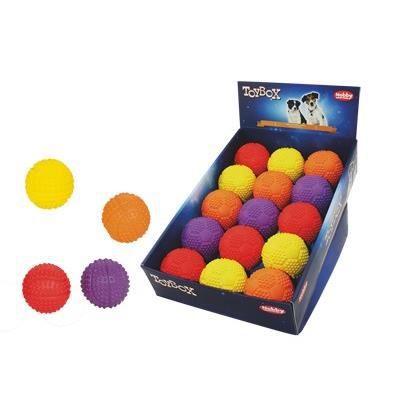 Dis 15 Jouet Chien Caoutchouc Balle Soccer Ass.7cm