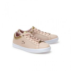 BASKET cuir en straightset lacostesneakers froissé ZaZq4Ypw