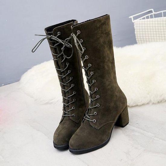reputable site 595b2 ba1ef Bottes Femmes D hiver Chaussures Talons à wll9549 Hauts Chevalier Haut  PwafFqTPx