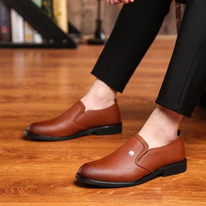 Mocassins pour homme Chaussures de villeChaussures pour costume Chaussures officieles à la main Confortables et légères Qz1AALBrr
