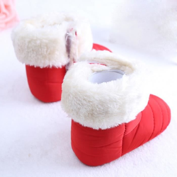 Bébé nouveau-né mignon première marchette pour tout-petits chaussures de botte Bottes de neige rouge UtLdwtbXfw