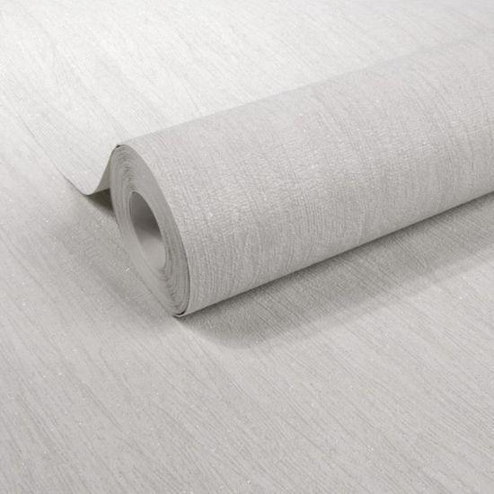 Wow Blanc Paillettes Uni Papier Peint Intisse 10m X 52cm