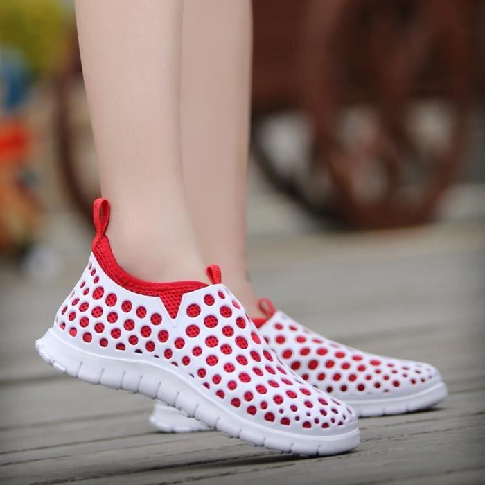 Sandales antidérapante Chaussures plates Résistance à l'usure des femmes