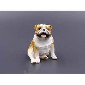 STATUE - STATUETTE Artisanat bulldog modèle de simulation de chien bo