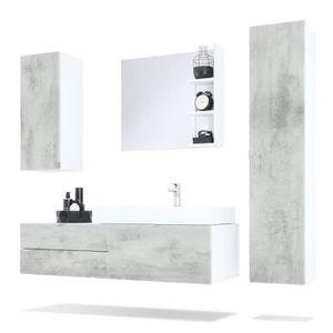 Meuble Salle De Bain Avec Vasque A Poser Achat Vente Meuble - Meuble salle de bain avec vasque posee