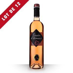 VIN ROSÉ 12X Grain d'Amour Rosé 75cl Vin de France - Vin Ro