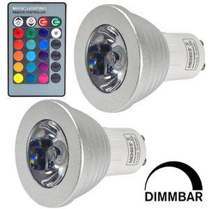 ampoule led gu10 couleur achat vente ampoule led gu10 couleur pas cher cdiscount. Black Bedroom Furniture Sets. Home Design Ideas