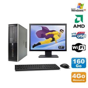UNITÉ CENTRALE + ÉCRAN Lot PC HP Compaq 6005 Pro SFF AMD 3GHz 4Go 160Go G