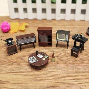 MAISON POUPÉE TEMPSA 8pcs Mobilier Miniature Maison De Poupée  M